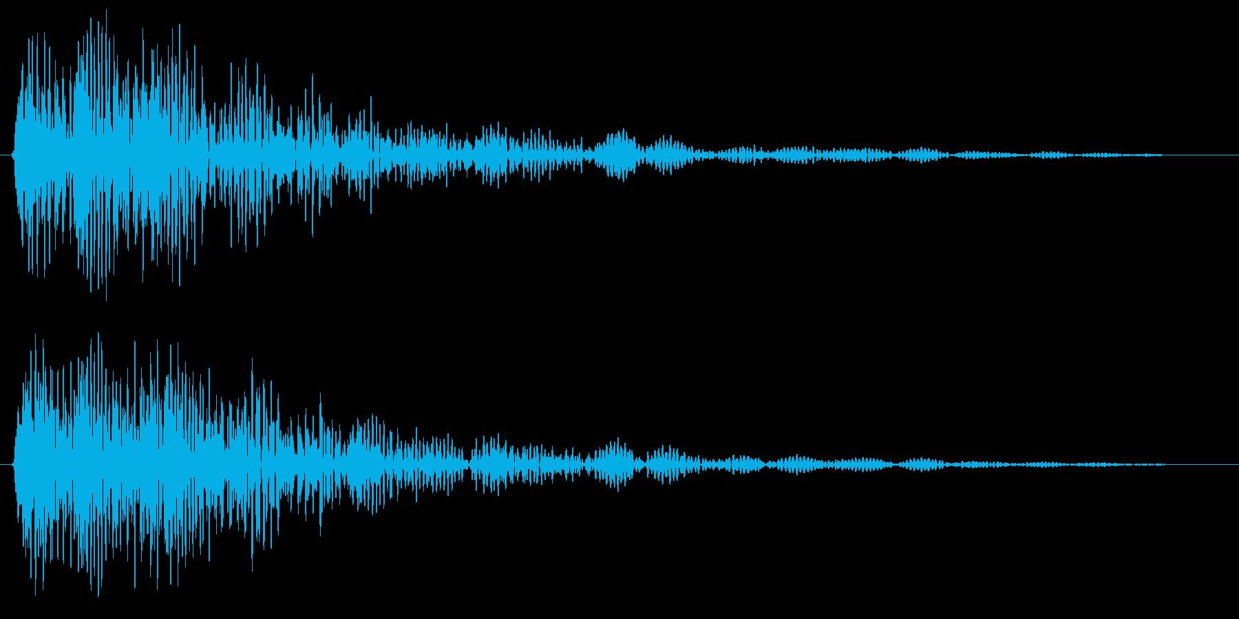 ポワァ〜ン(金属音)の再生済みの波形