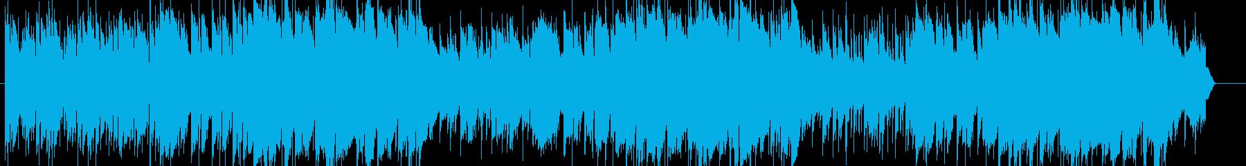 女性ボーカルの切ない冬のイメージの曲の再生済みの波形