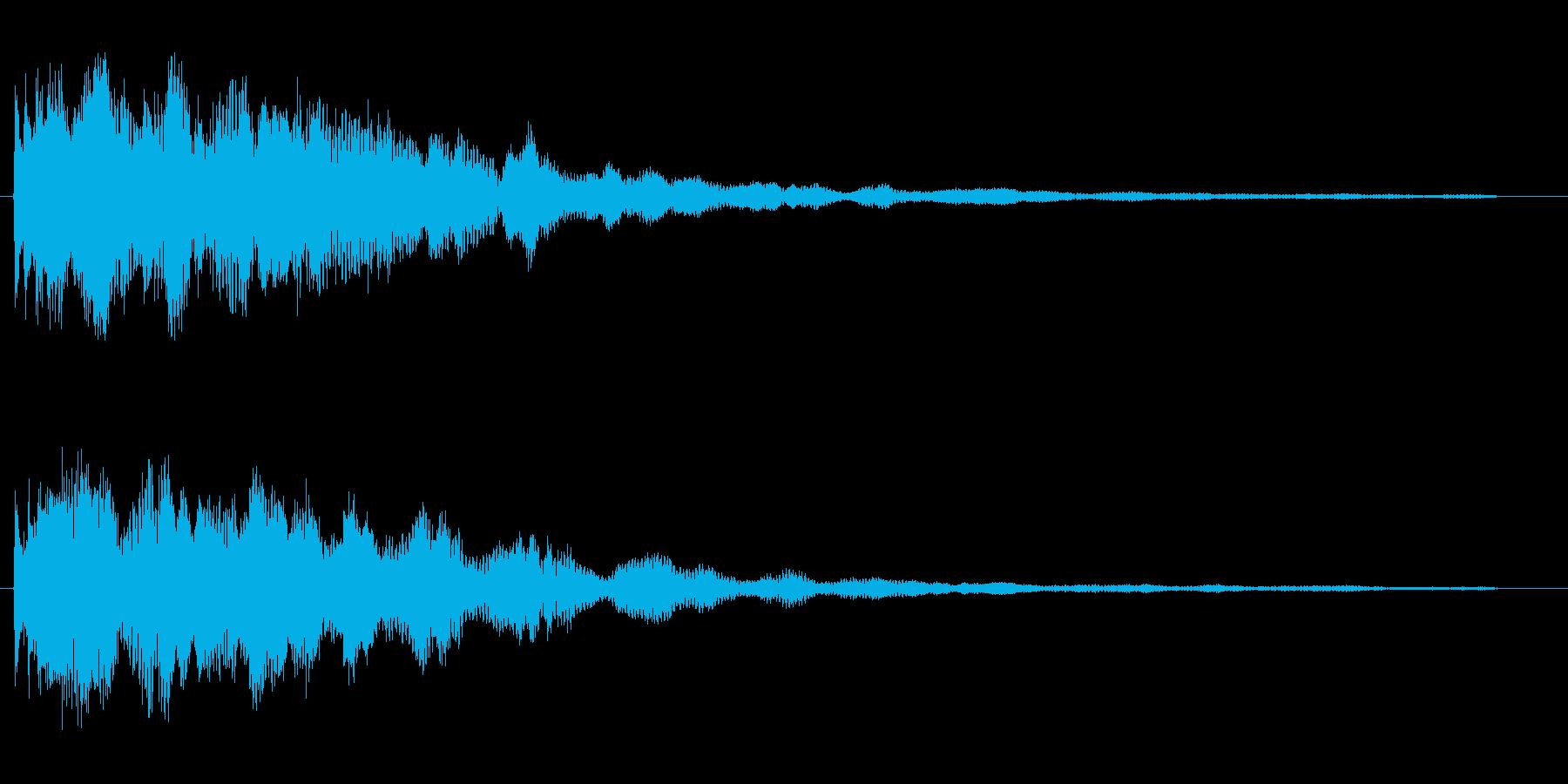 キュワーン(高い音色)の再生済みの波形