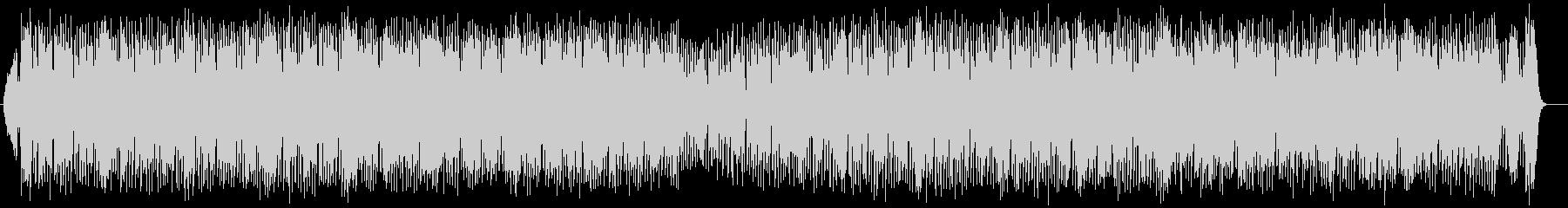 アップテンポのテクノ系ポップスの未再生の波形