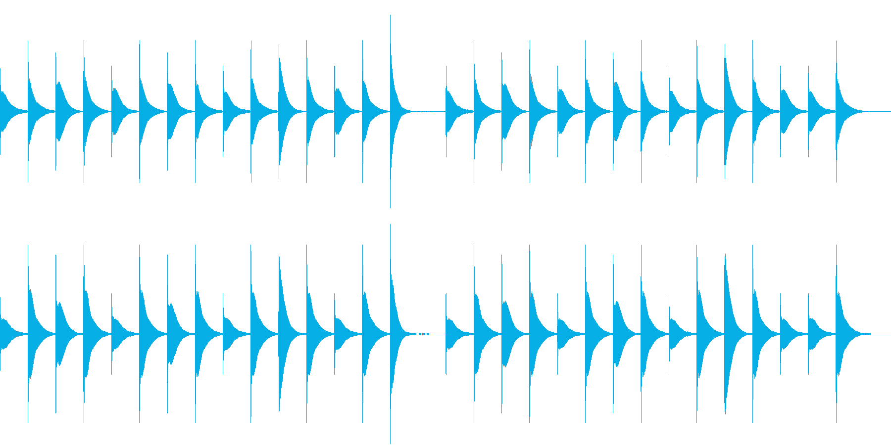 Xylo まったり可愛いベビー向けBGMの再生済みの波形