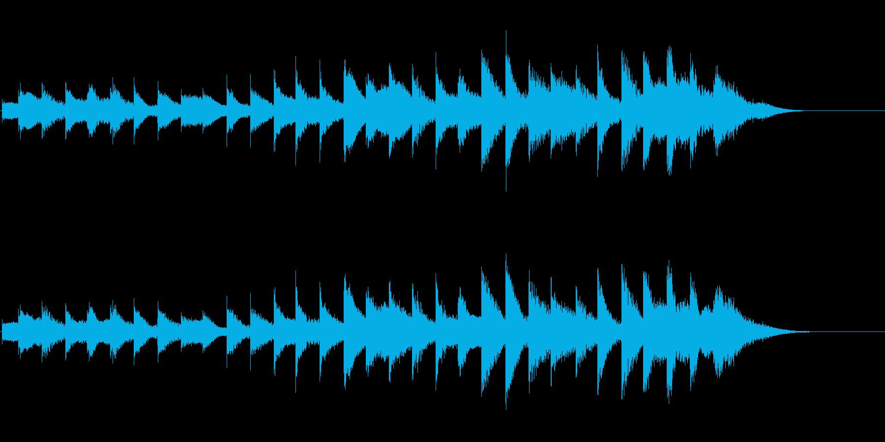 やさしい通知・案内音(高音)の再生済みの波形