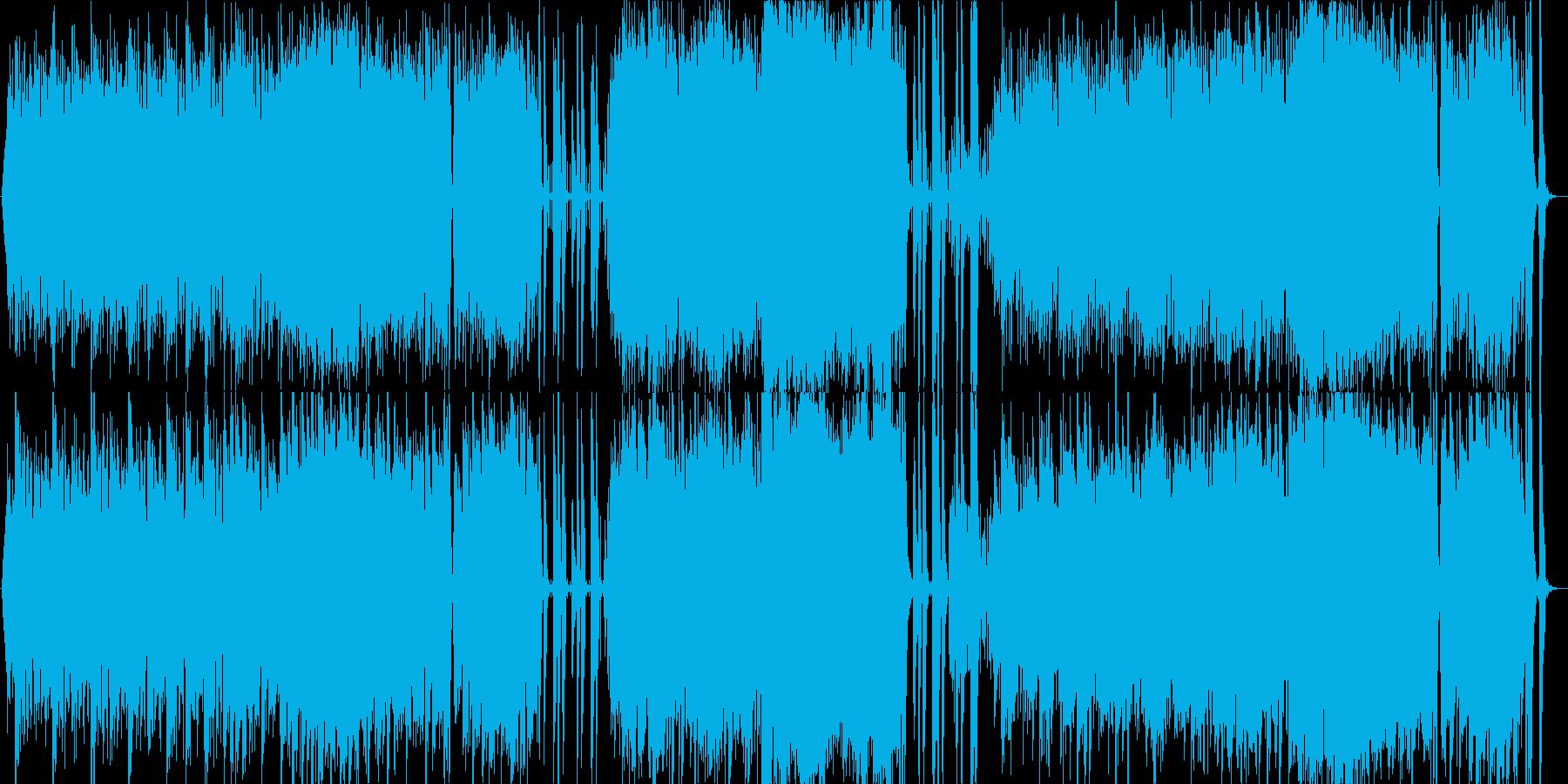 エキゾチックなヴァイオリン曲の再生済みの波形