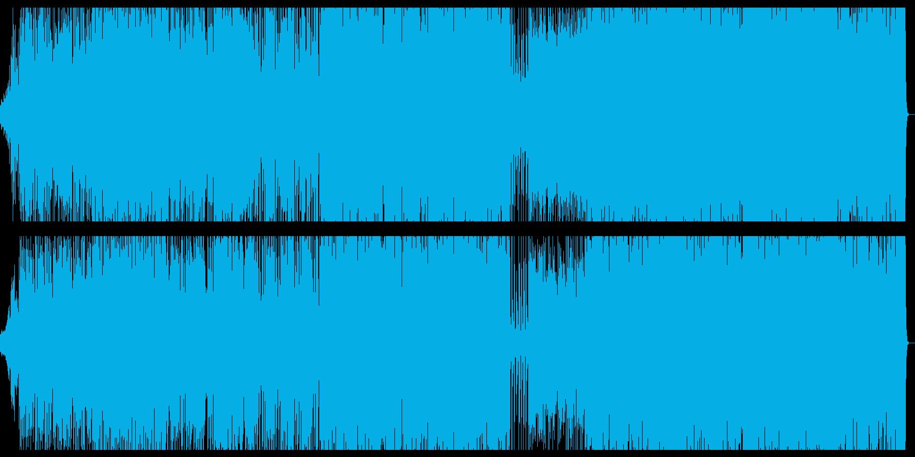 緊迫したシーンに最適なEDMの再生済みの波形