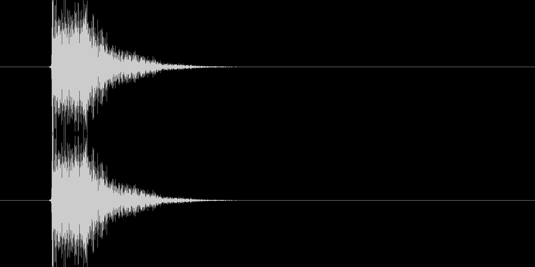 ハンドガンの発砲音。バーン。の未再生の波形