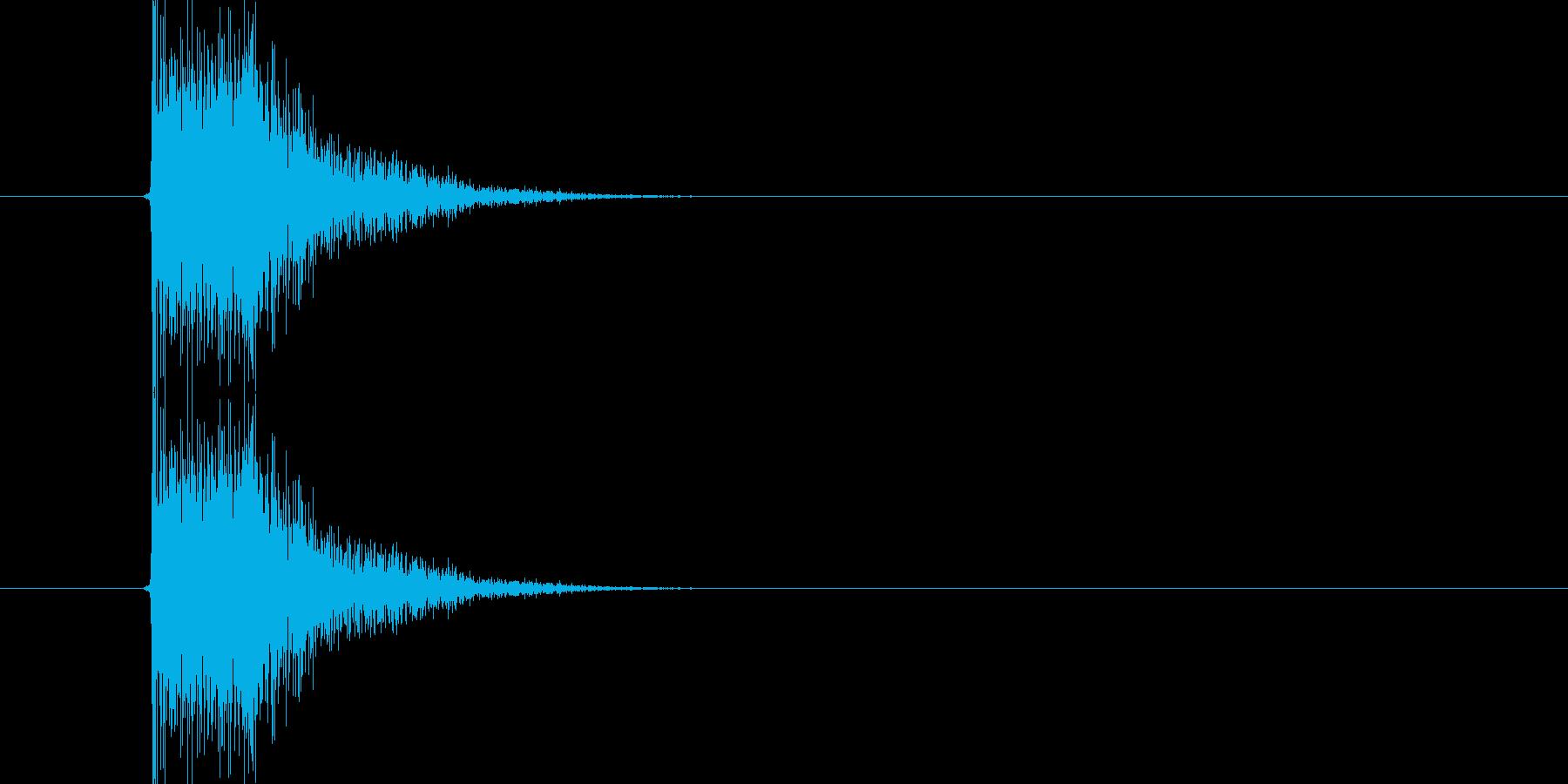 ハンドガンの発砲音。バーン。の再生済みの波形