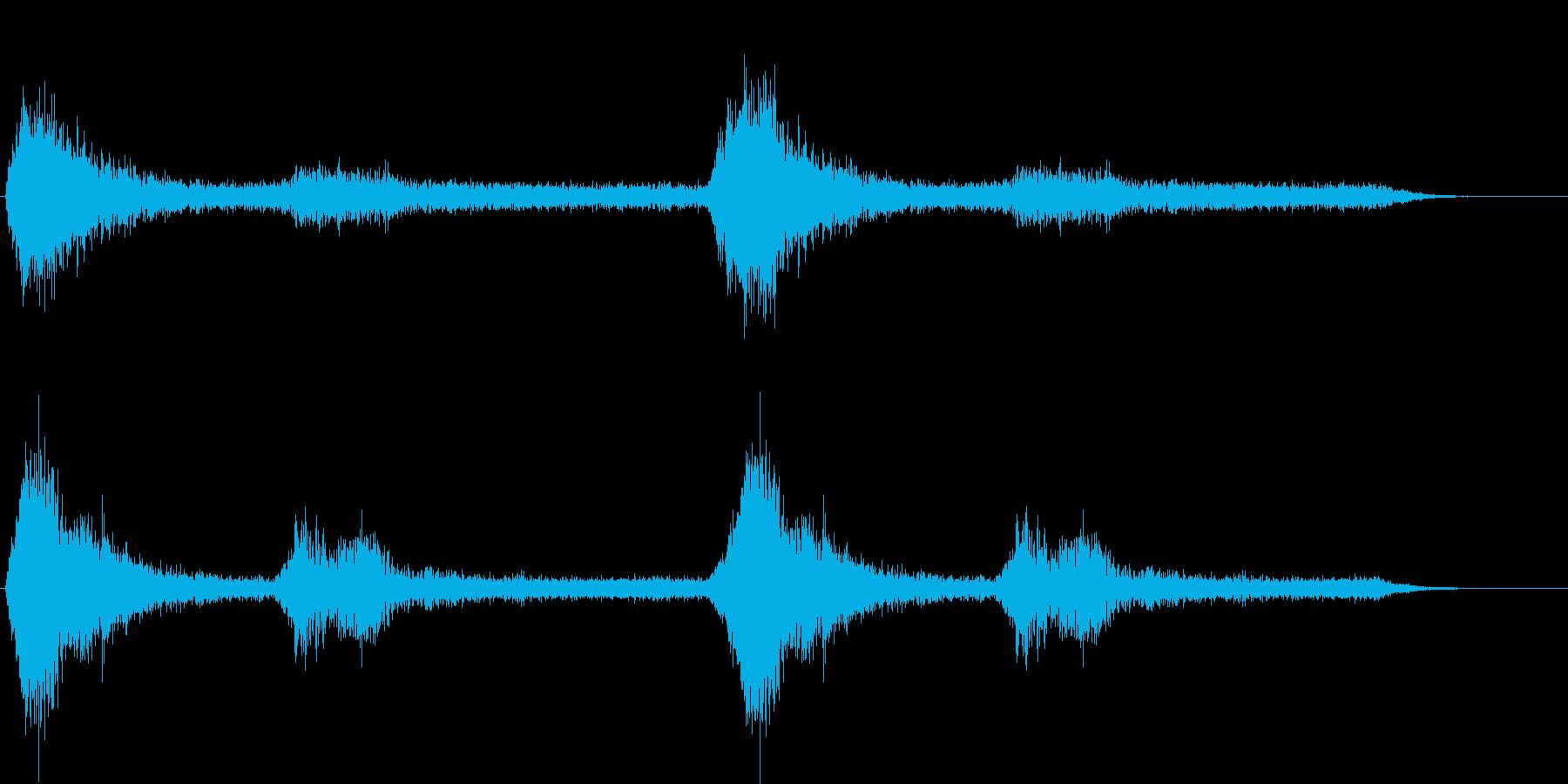 ヒッチコック風のホラー的ジングルの再生済みの波形