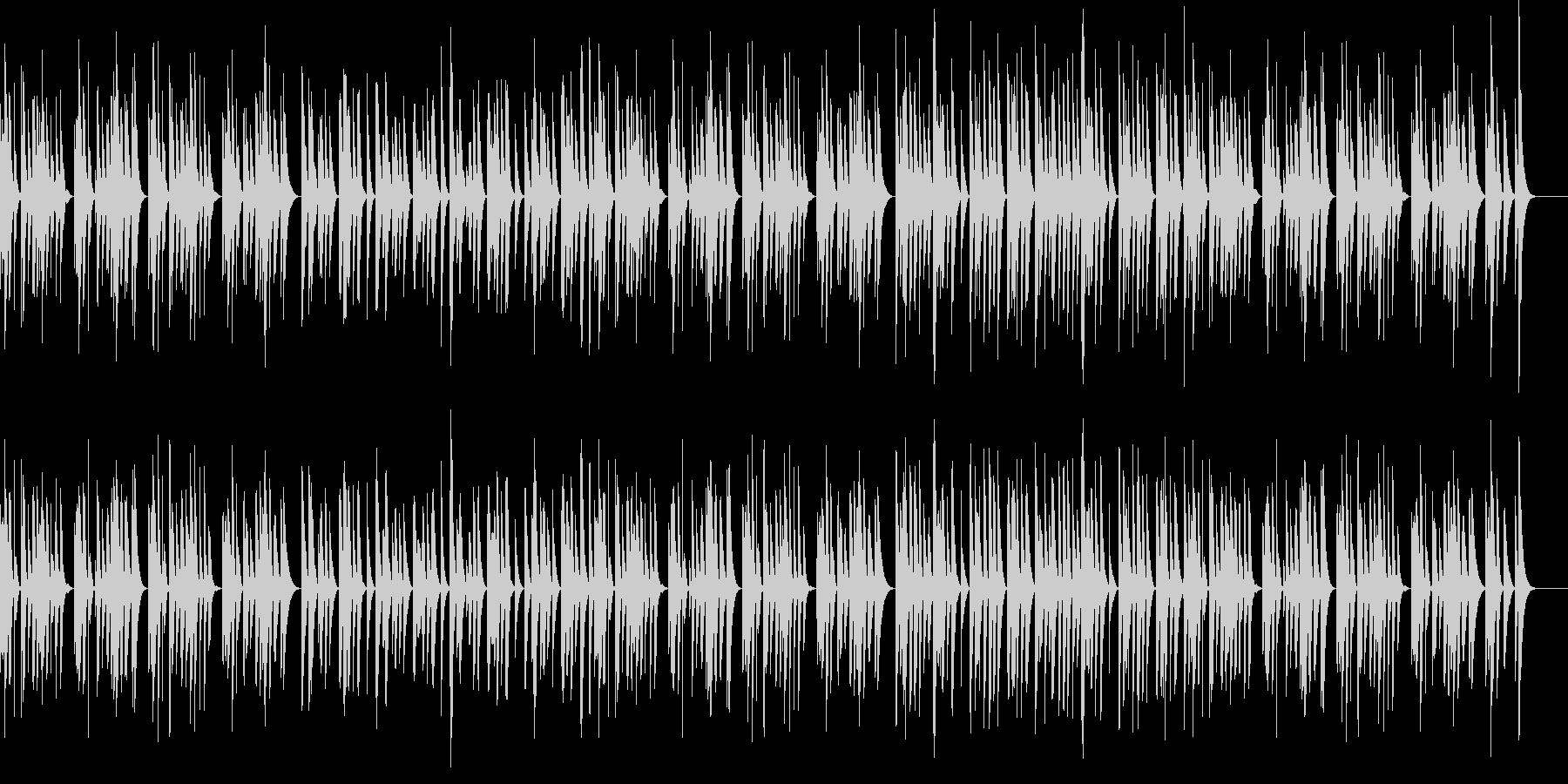 かわいい・軽快なマリンバのソロの未再生の波形