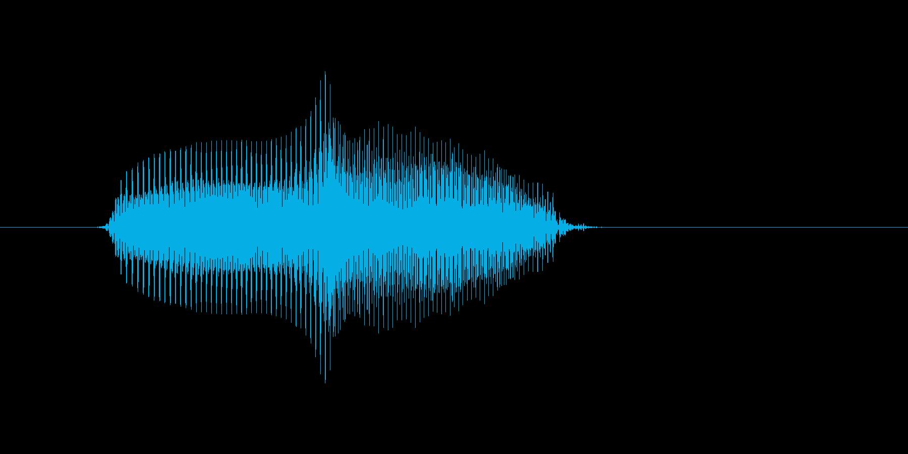 上の再生済みの波形