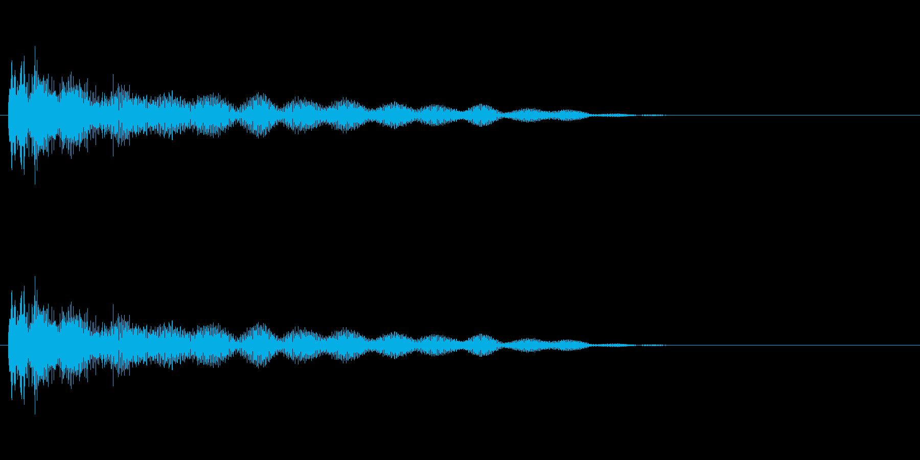 ホラーな演出に 15の再生済みの波形