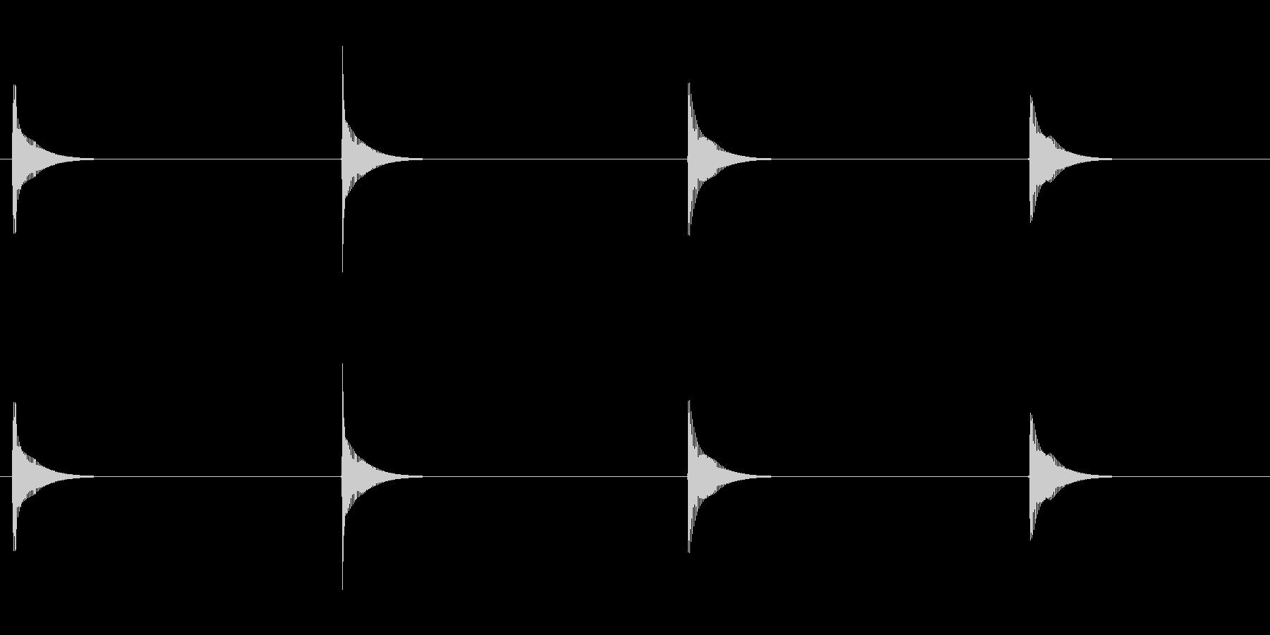 【SE 効果音】てんてんてんてんの未再生の波形