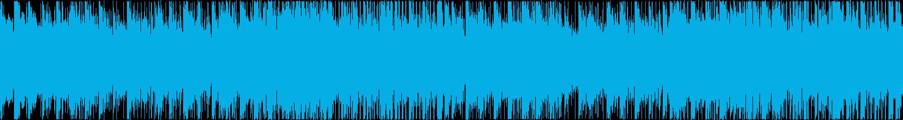 明るく、楽しい、元気な、シンセ系の楽曲…の再生済みの波形