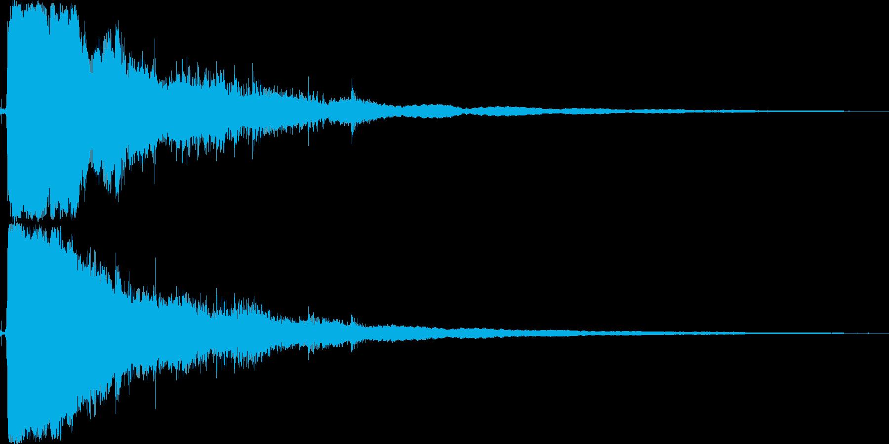 レジスターを開けるの再生済みの波形