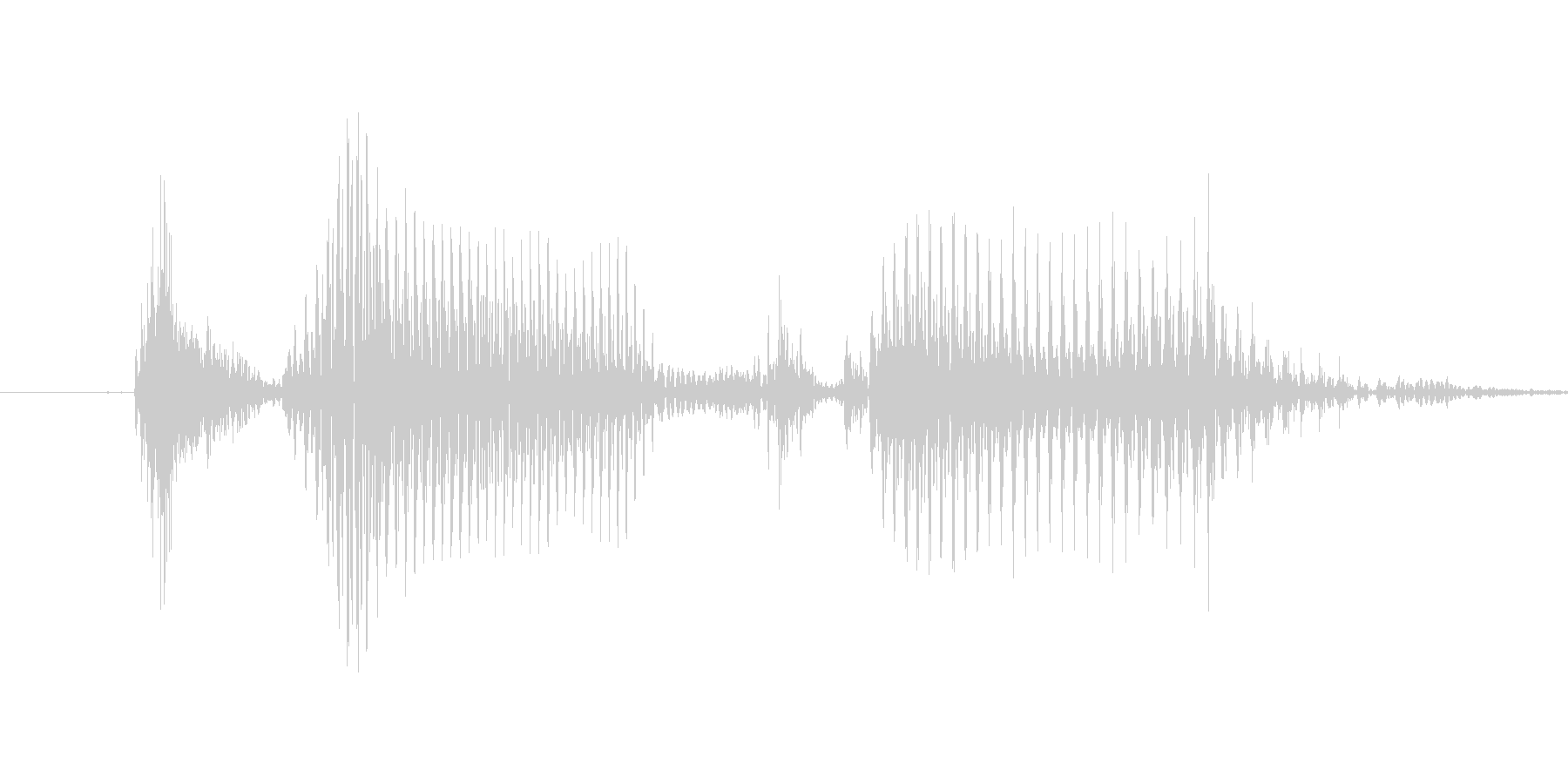 「12 AM」英語発音の未再生の波形