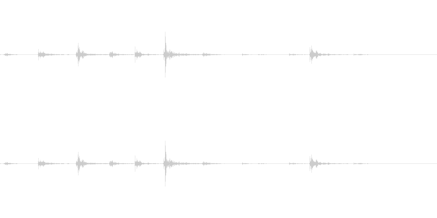 カタカタとキーボードを叩く音(薄型)の未再生の波形
