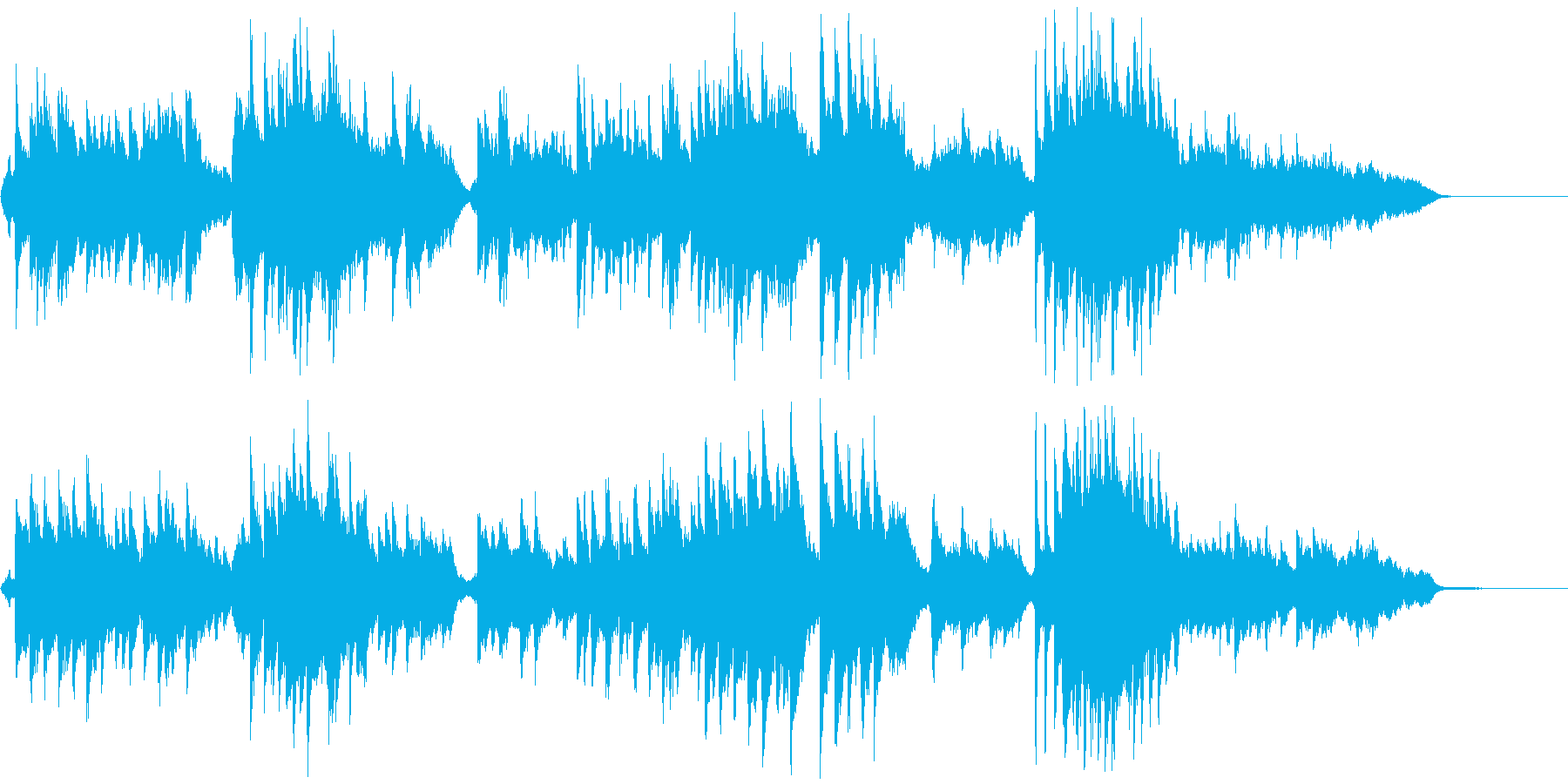 しっとりとした癒しの音楽の再生済みの波形