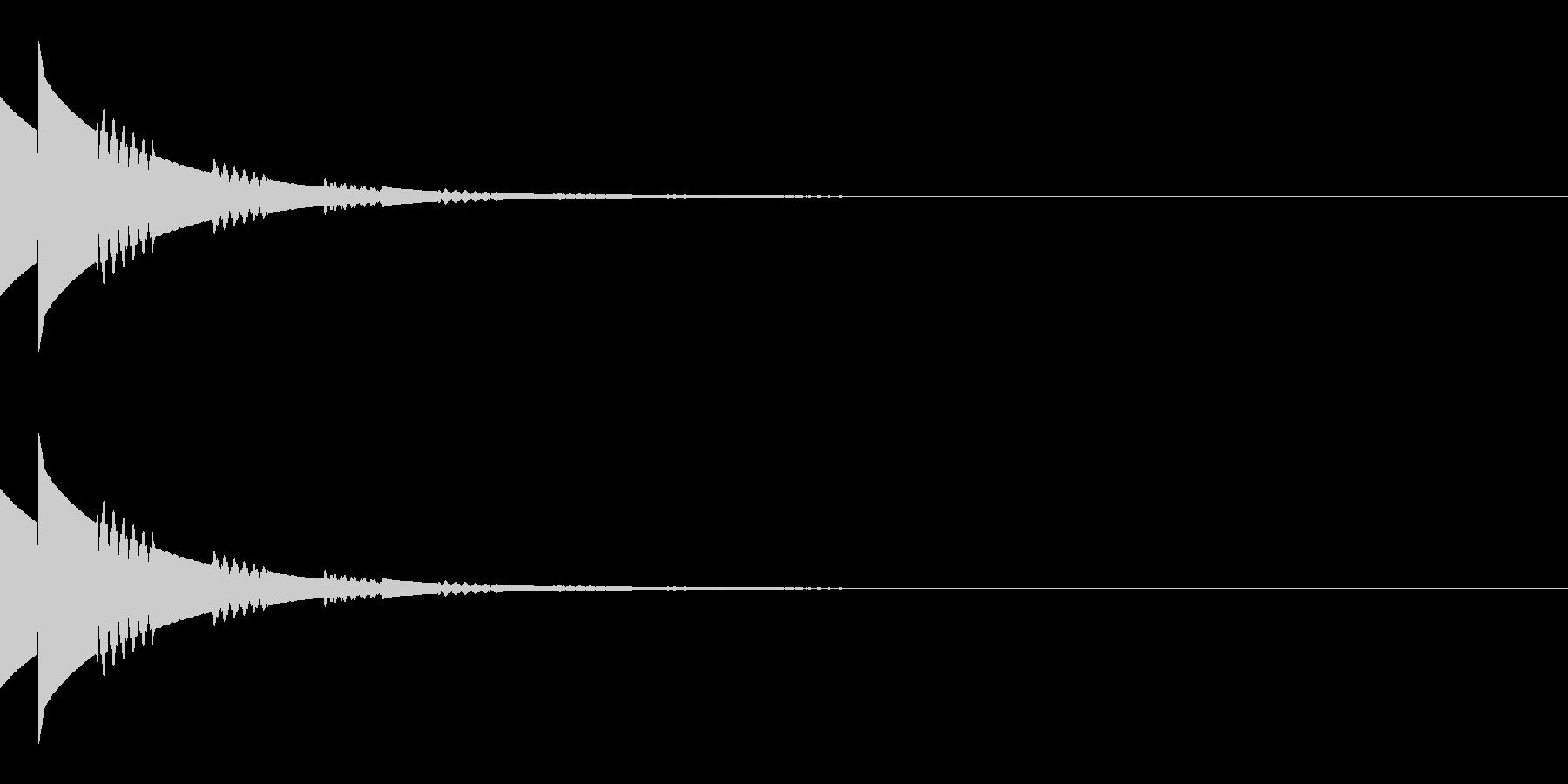 キラキラ(星/アイテム/エコー)の未再生の波形