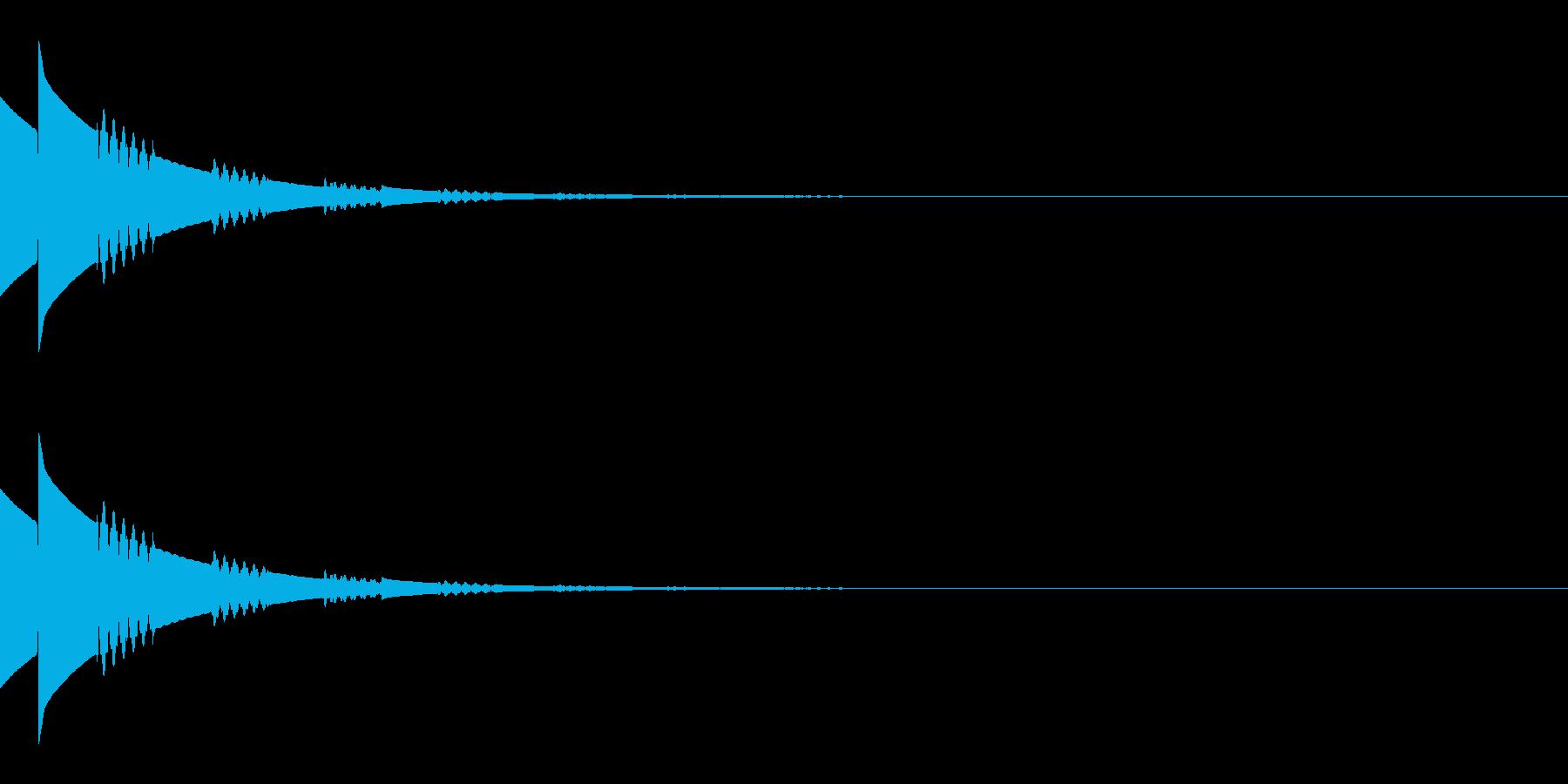 キラキラ(星/アイテム/エコー)の再生済みの波形