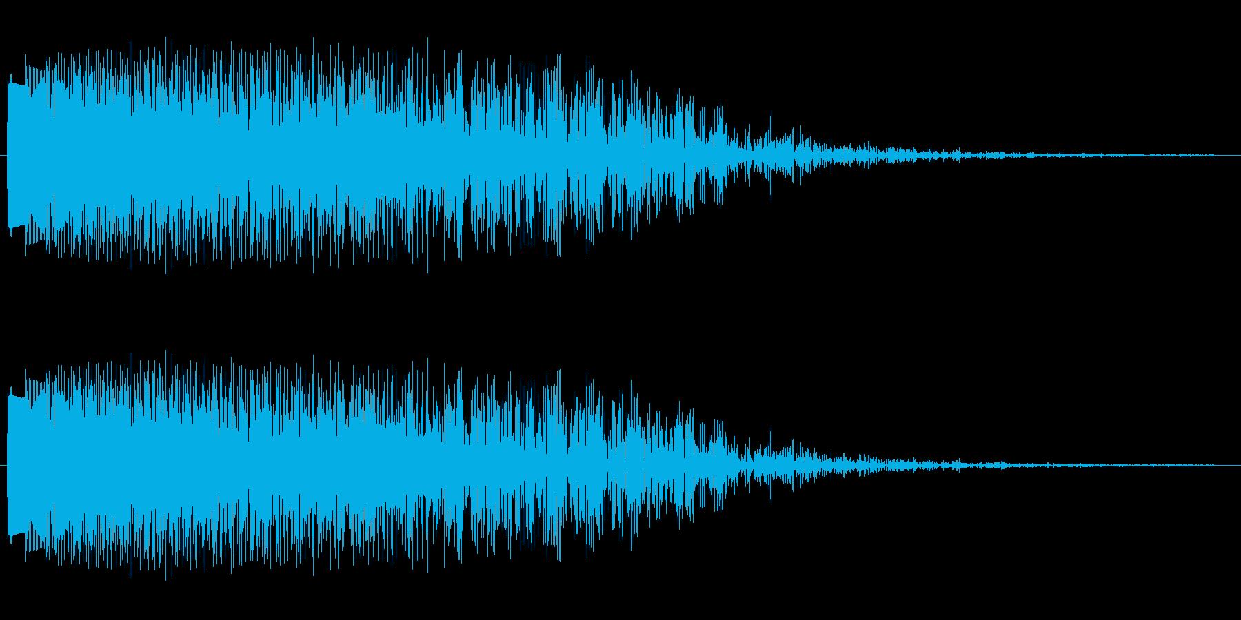 キラキラキラン(指が鍵盤を横に滑る音)の再生済みの波形