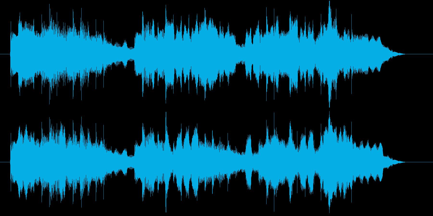フルートが優しいCM向けBGMの再生済みの波形