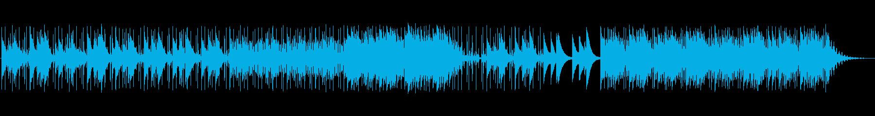 グロッケンがメロディーの静かな曲の再生済みの波形
