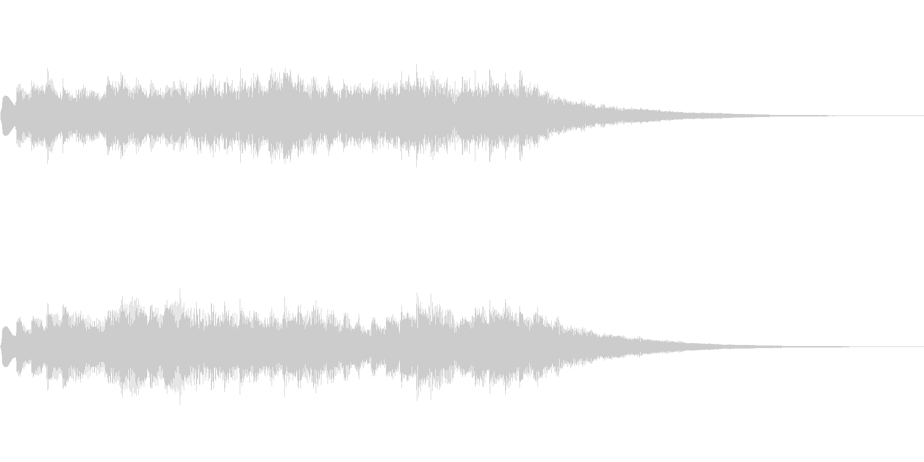 オルゴール風ジングルの未再生の波形