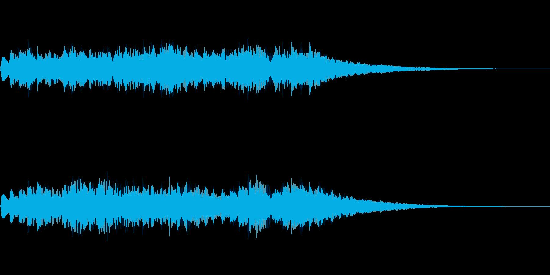 オルゴール風ジングルの再生済みの波形