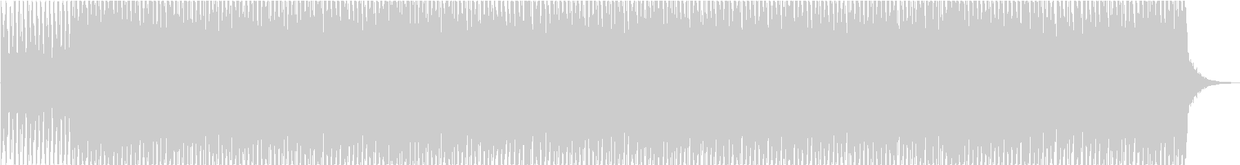 ミニマル系テクノBGM(WAV版)の未再生の波形