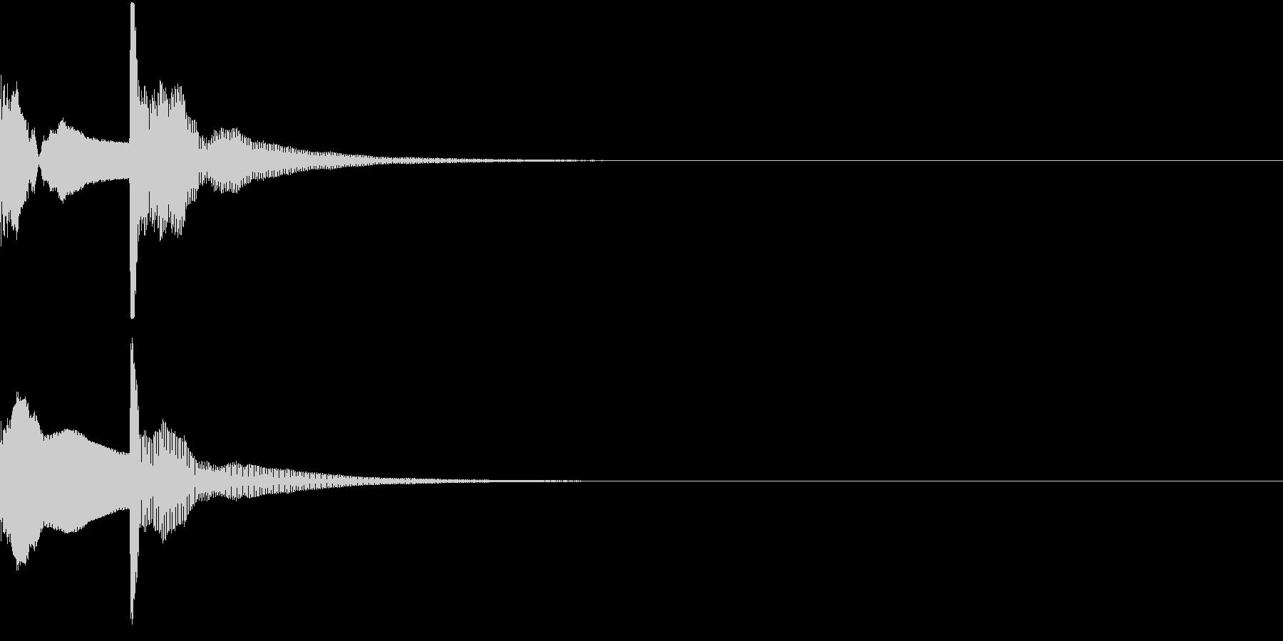 決定音02(ポコッ)の未再生の波形