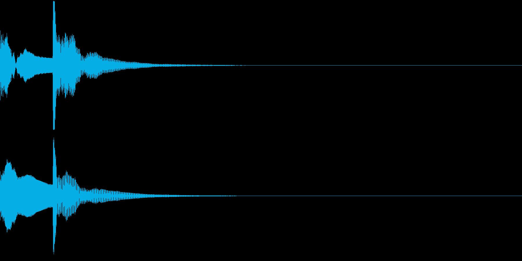 決定音02(ポコッ)の再生済みの波形