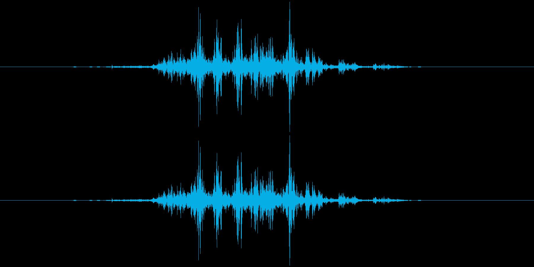 シュルルルの再生済みの波形