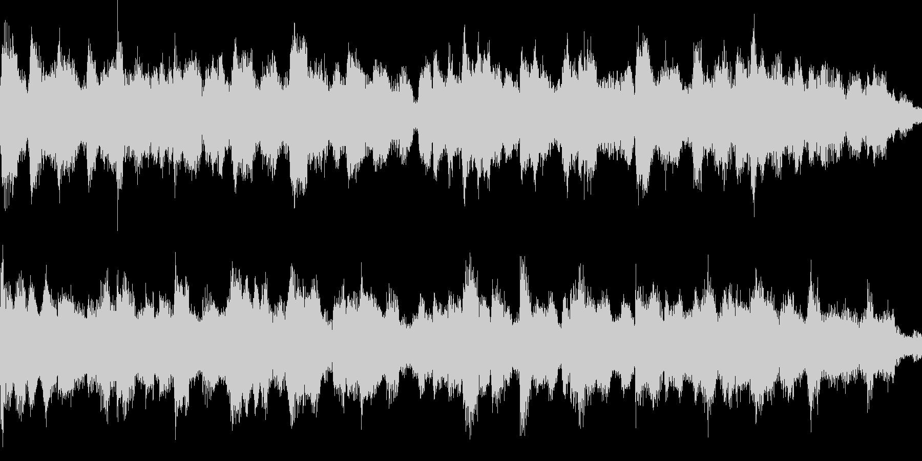 落ち着いた雰囲気のジングル_ループの未再生の波形