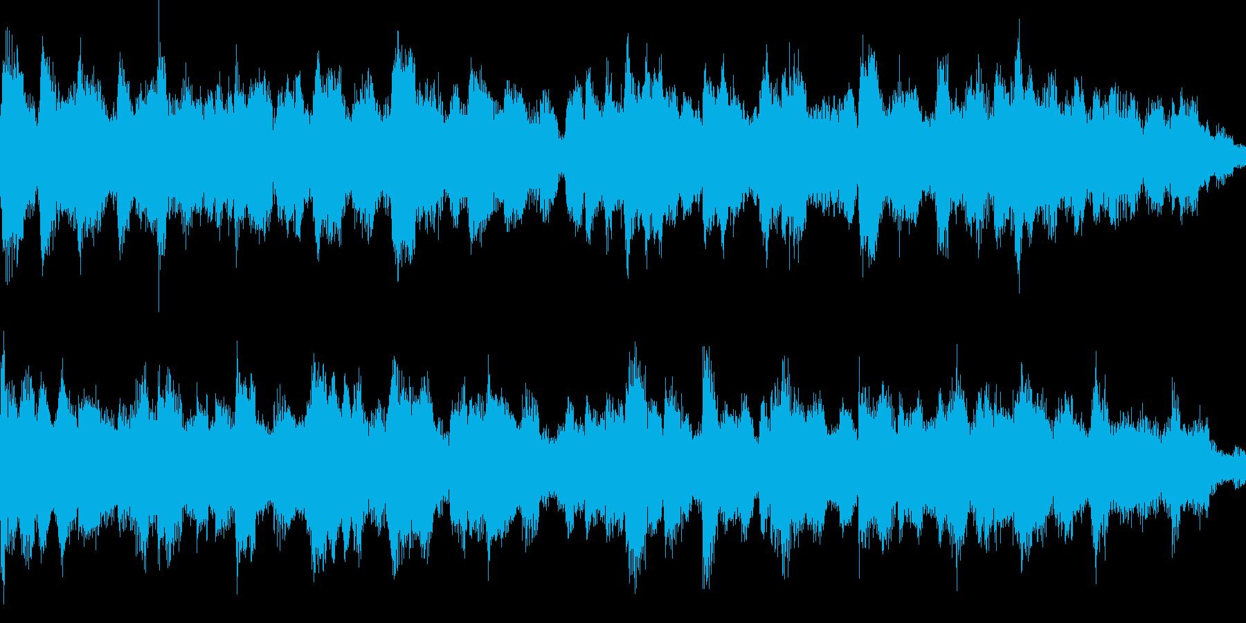落ち着いた雰囲気のジングル_ループの再生済みの波形