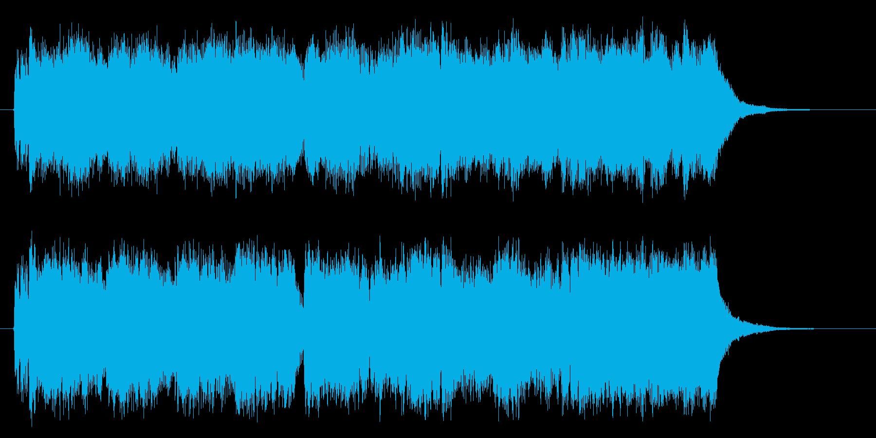 シンセサイザーによる壮大な曲の再生済みの波形