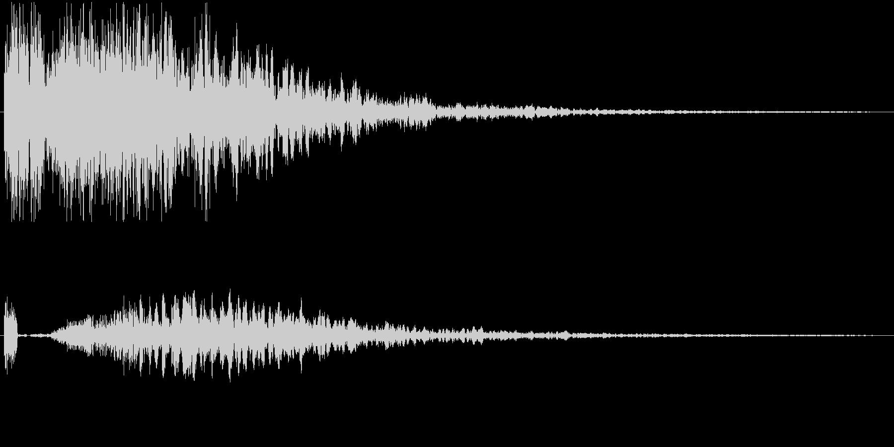 効果音。カキーン音01(剣の音)の未再生の波形