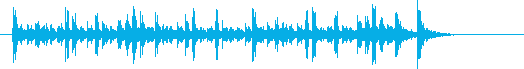 優しい朗らかなシンセポップジングルの再生済みの波形