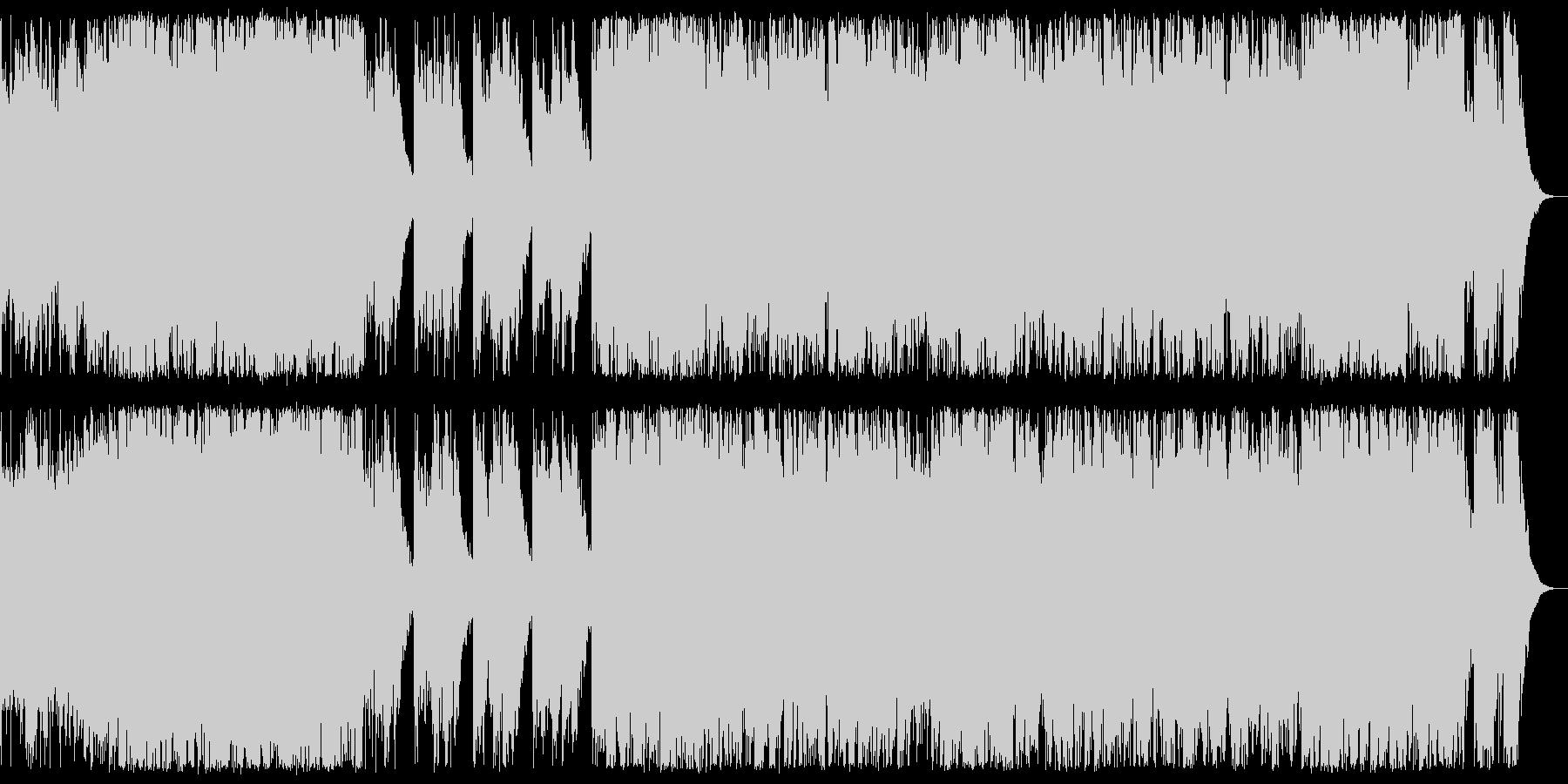 ハロウィン系 ポップで怪しい感じのBGMの未再生の波形