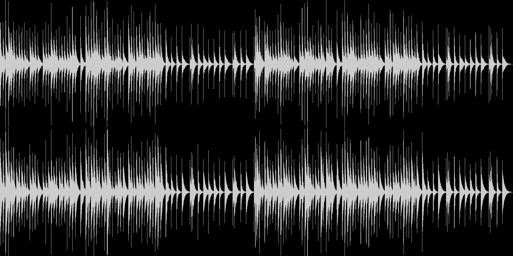 幸せな感情をイメージしたオルゴール曲の未再生の波形