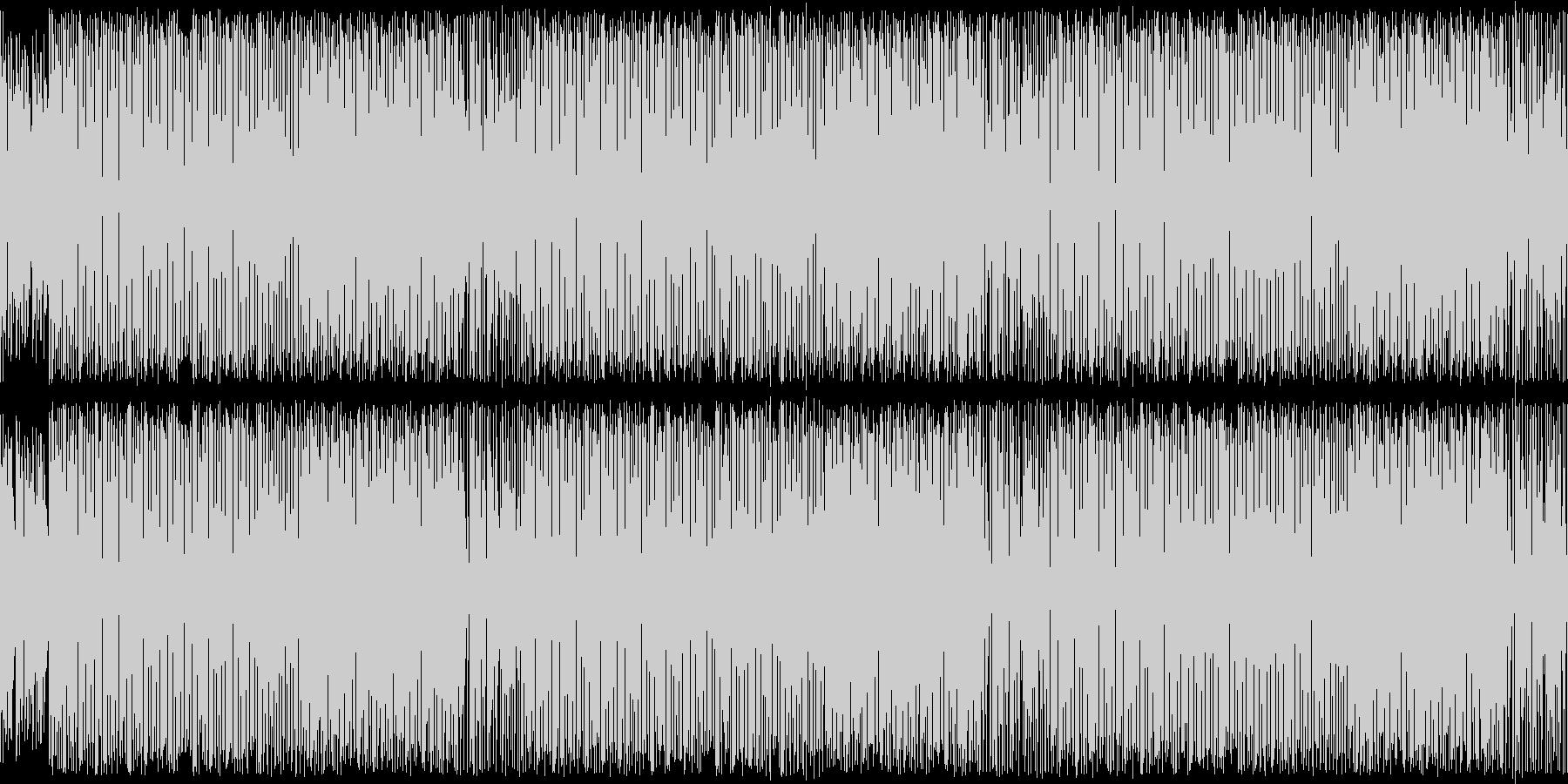 レトロゲーム風可愛いテクノポップ・ループの未再生の波形