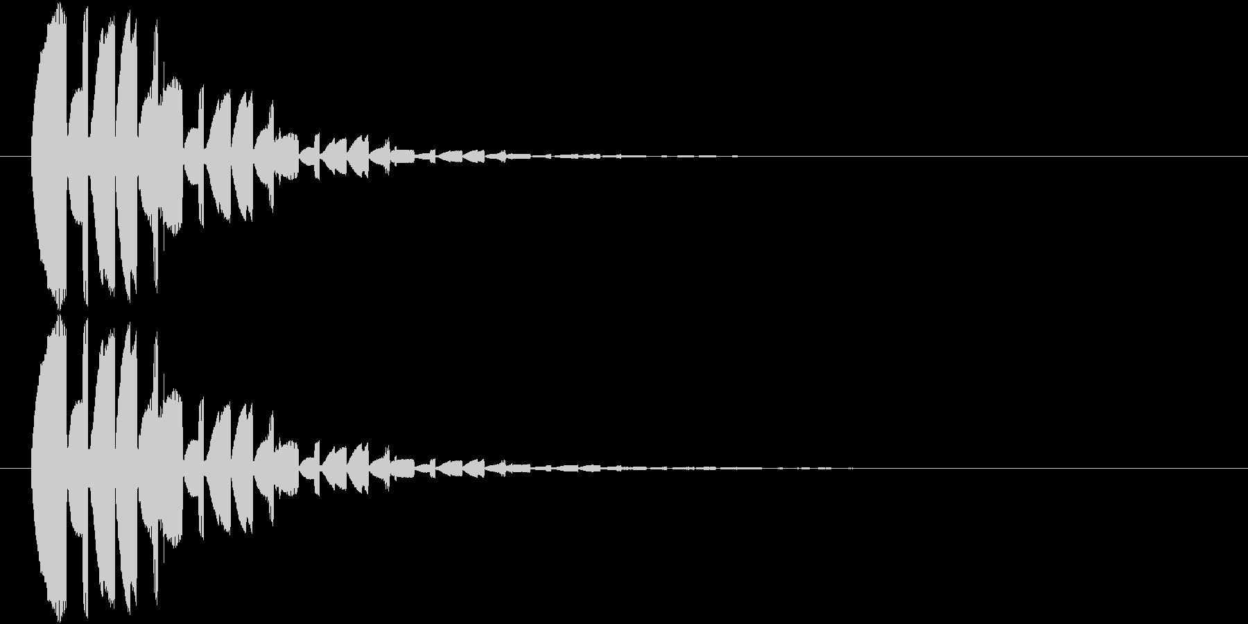 魔法発動時の音の未再生の波形