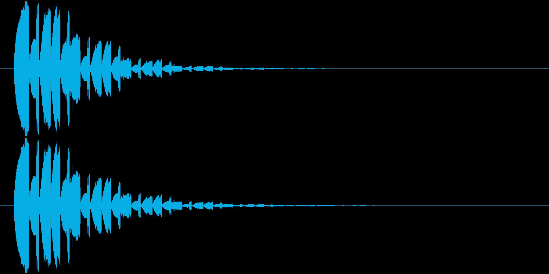 魔法発動時の音の再生済みの波形