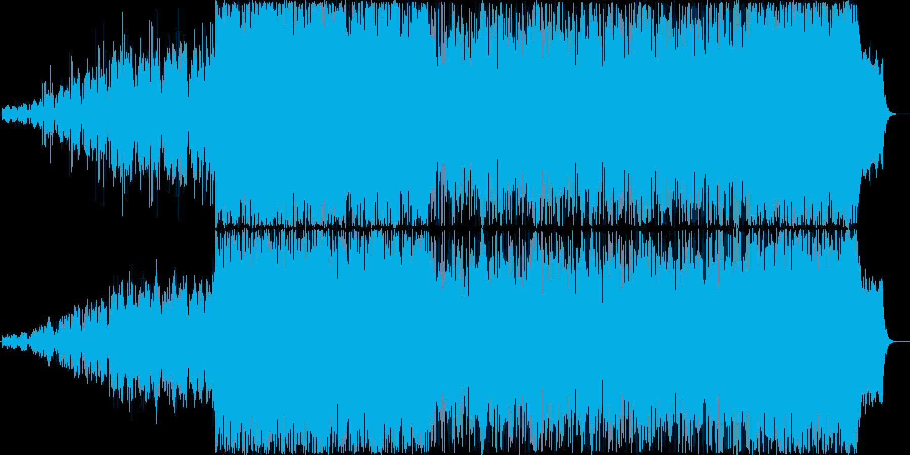 ハリウッド映画を思わせるストリングス曲の再生済みの波形