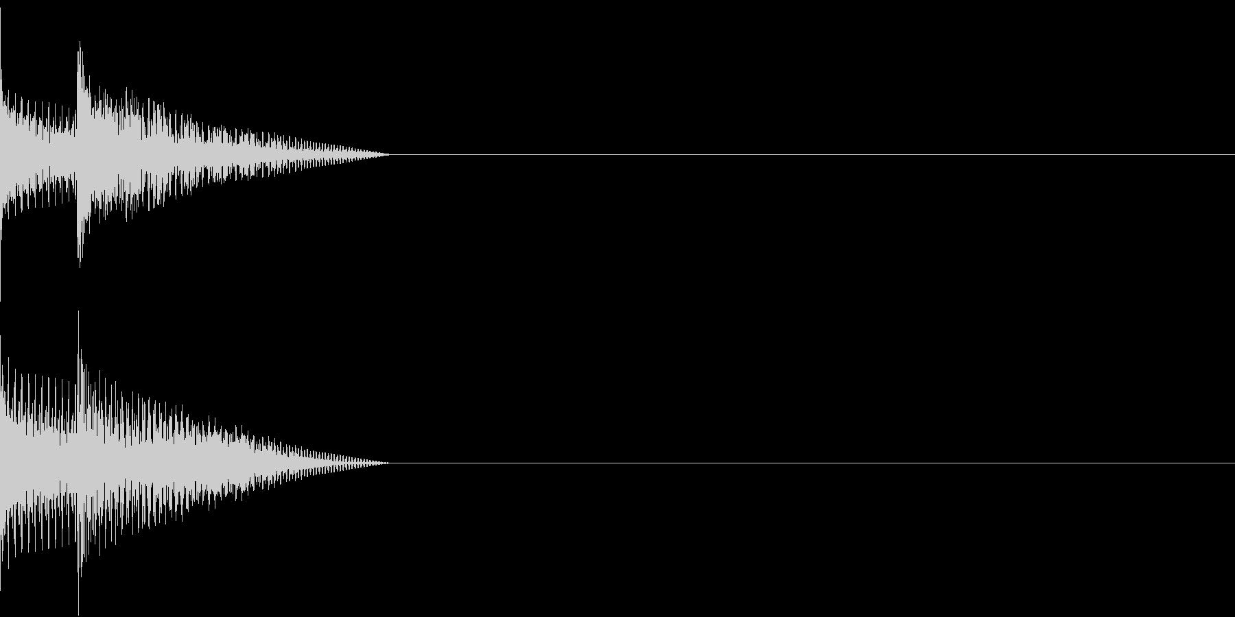 Cursor セレクト・カーソルの音4の未再生の波形