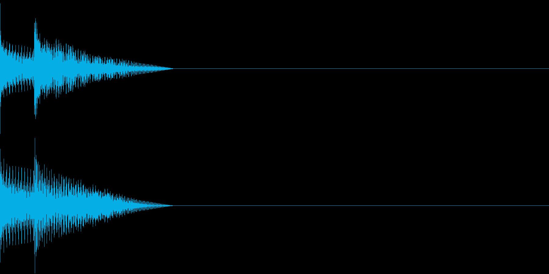 Cursor セレクト・カーソルの音4の再生済みの波形