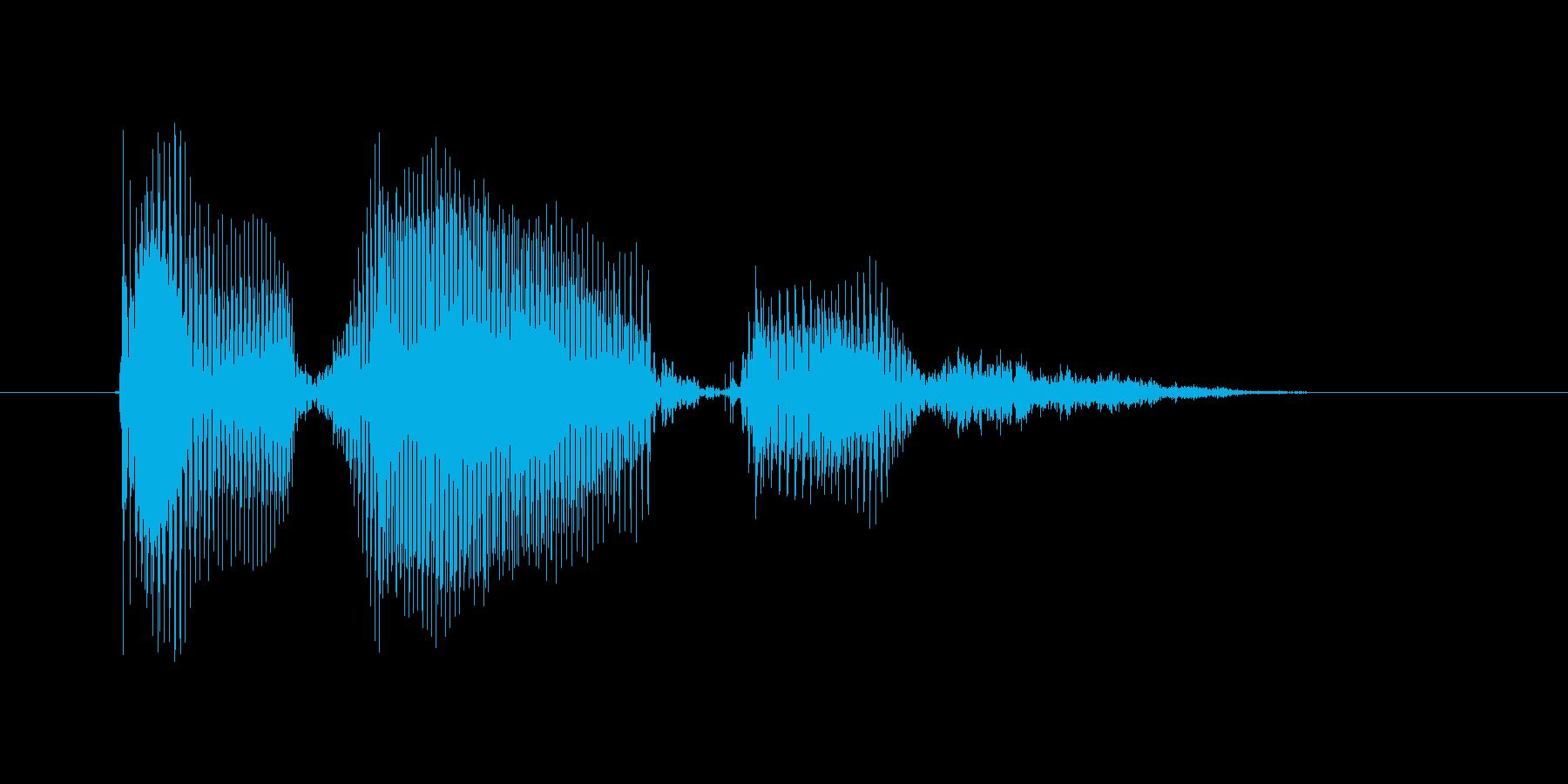エラーですの再生済みの波形