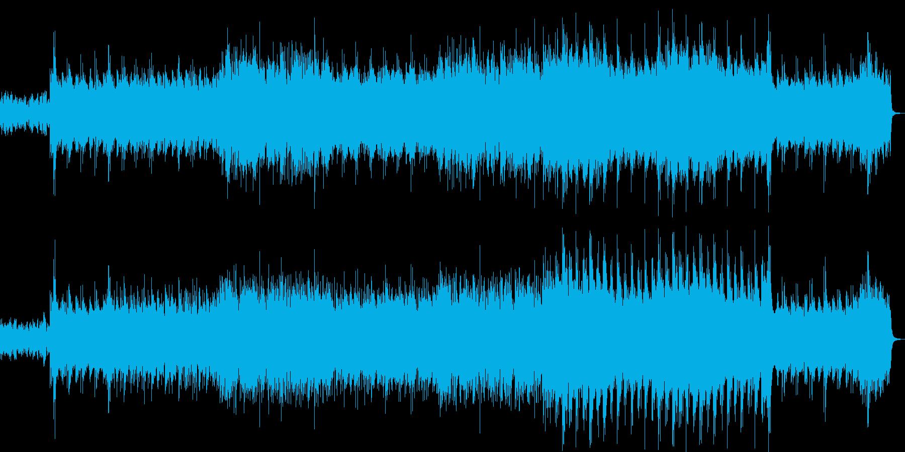 笛・箏・打楽器の和風リラクゼーション音楽の再生済みの波形