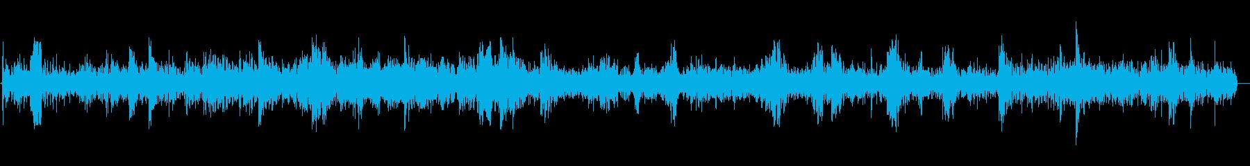 水が流れる音(ロング)の再生済みの波形