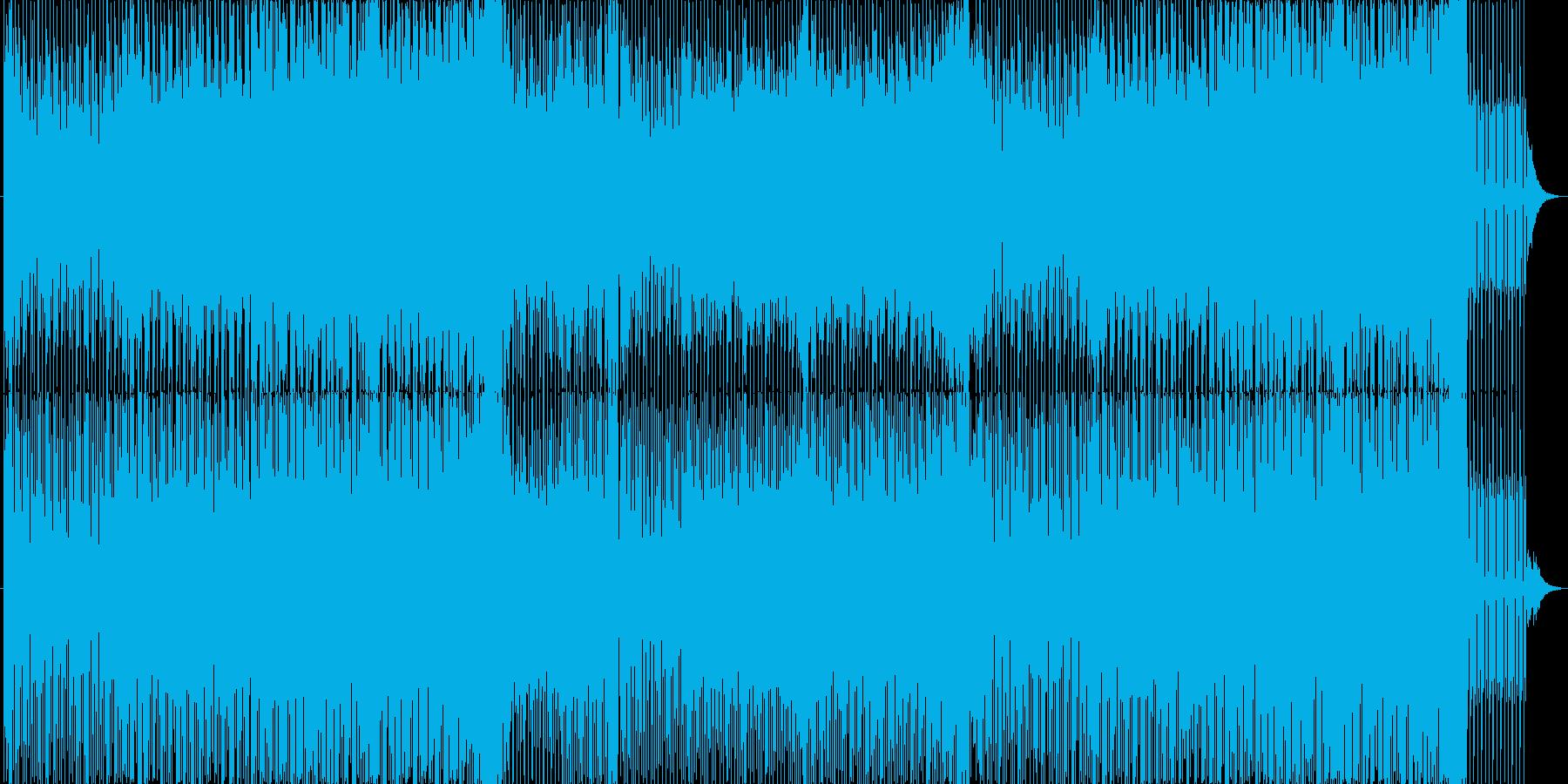 疾走感のあるトランス的BGMの再生済みの波形