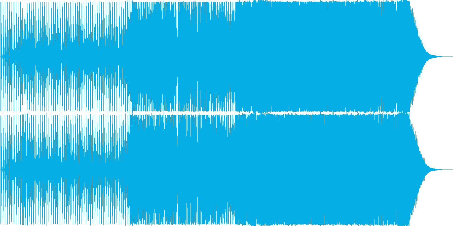 EDM風のラベルのボレロの再生済みの波形