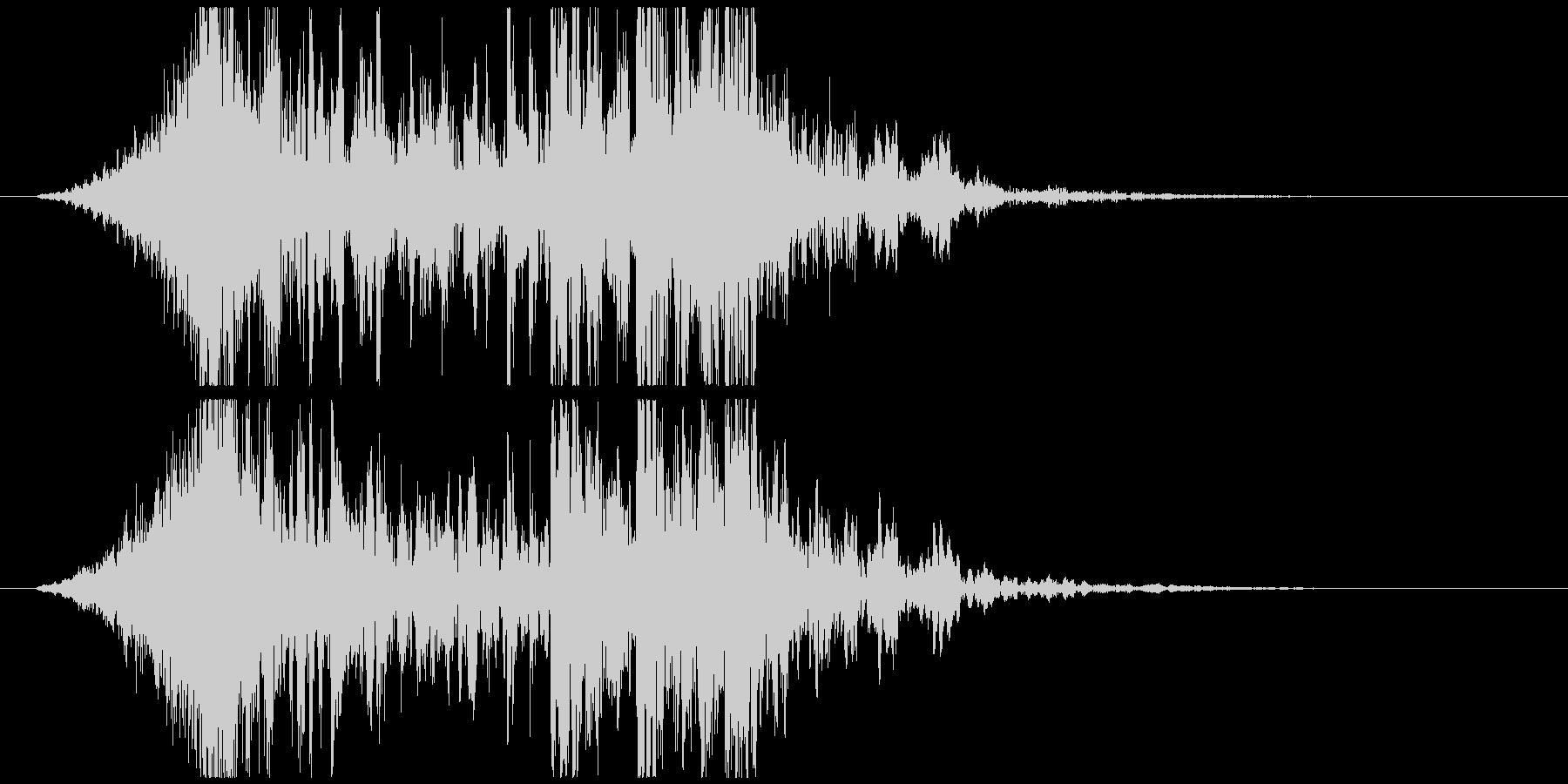 壮大で激しいリズムのサウンドロゴB(短)の未再生の波形